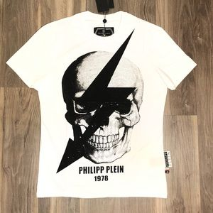 Philipp Plein Crystal-Skull Graphic T-Shirt